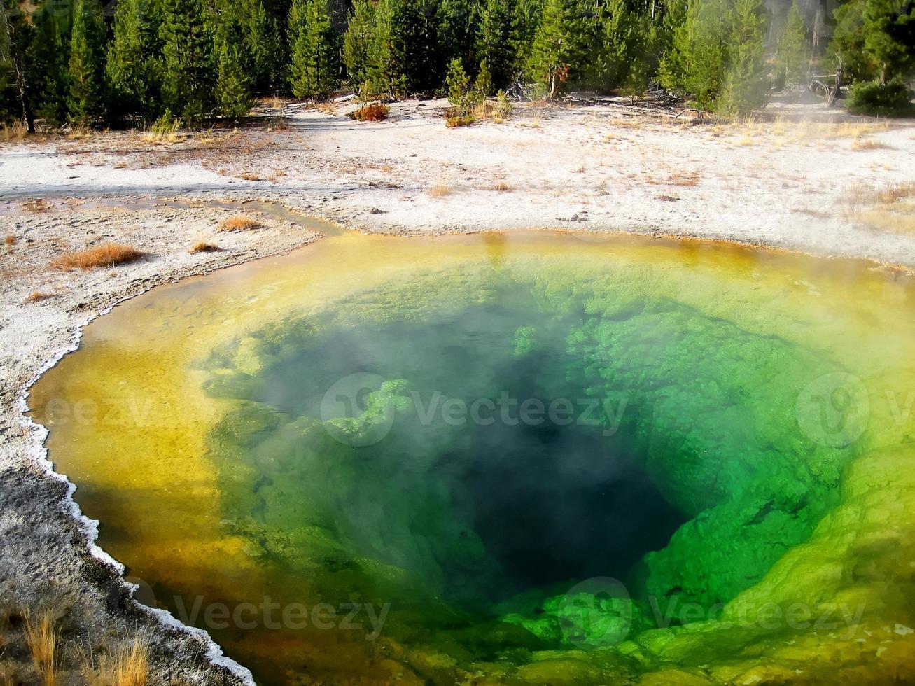 piscina de glória da manhã (yellowstone, estados unidos da américa) foto
