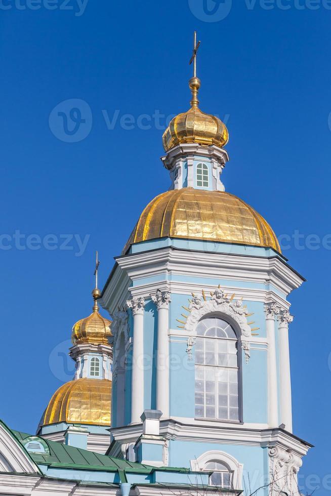 st. catedral naval de nicholas. São Petersburgo foto