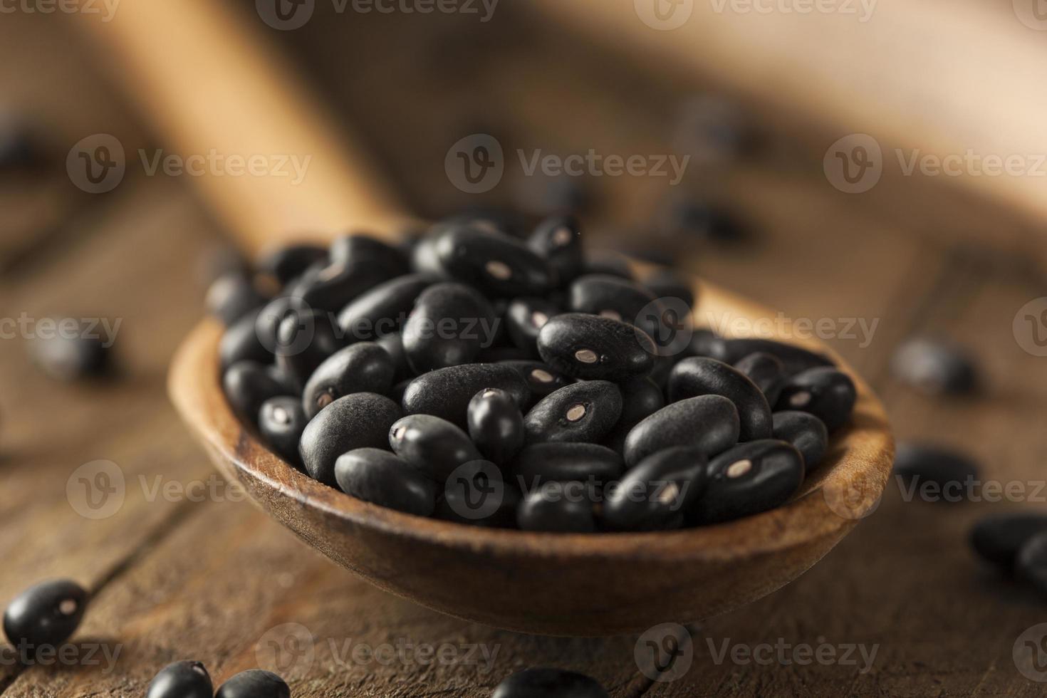 feijão preto seco cru orgânico foto