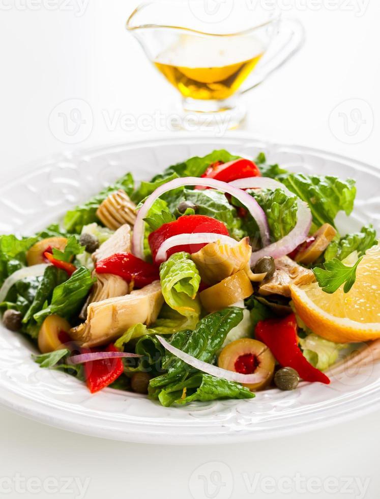 salada de alcachofra foto
