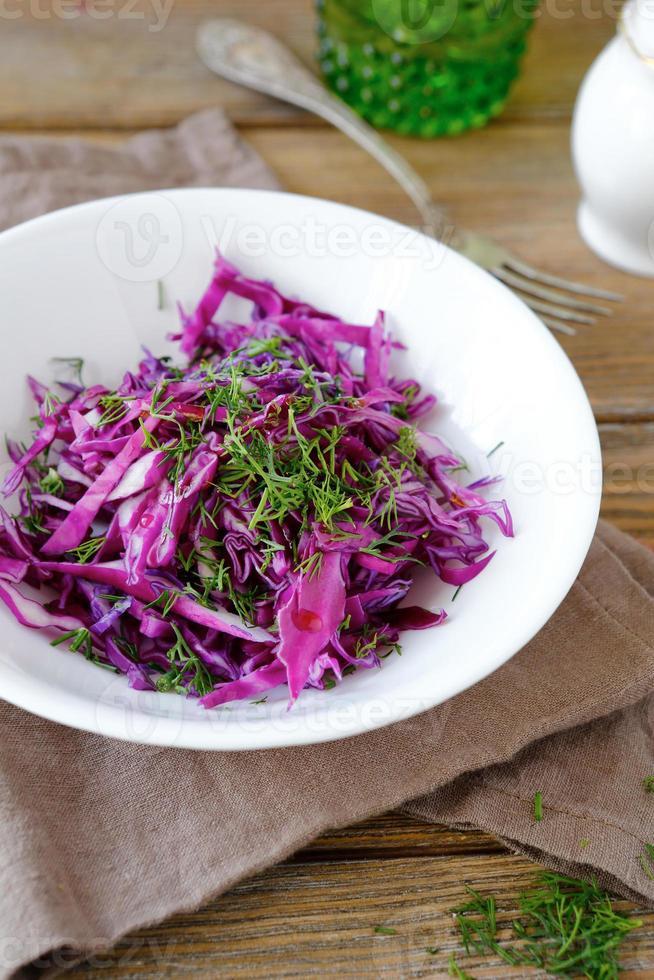 salada de repolho vegetariana em uma tigela foto