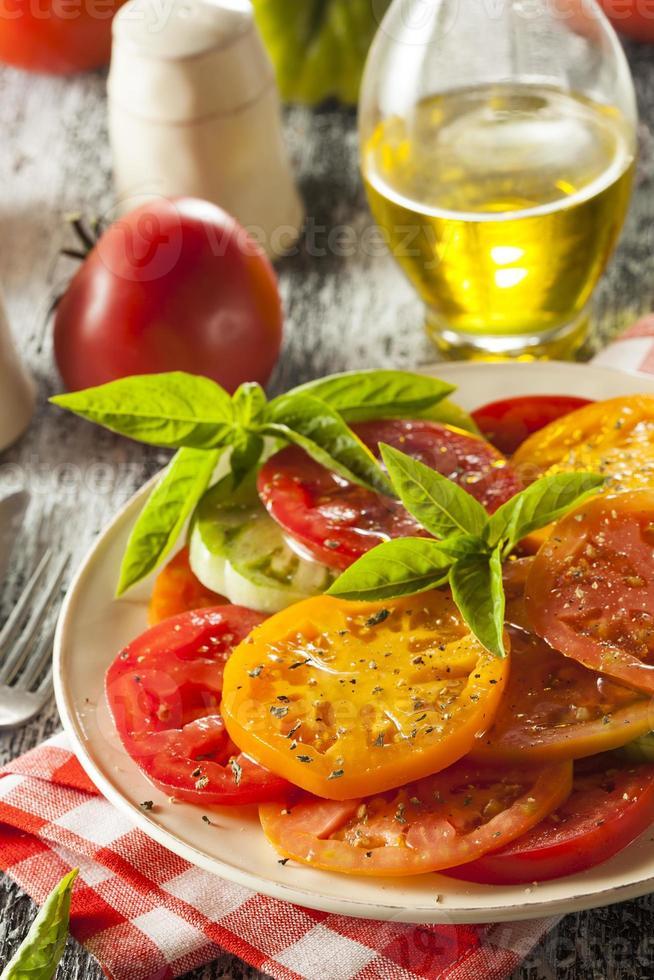 salada de tomate saudável foto