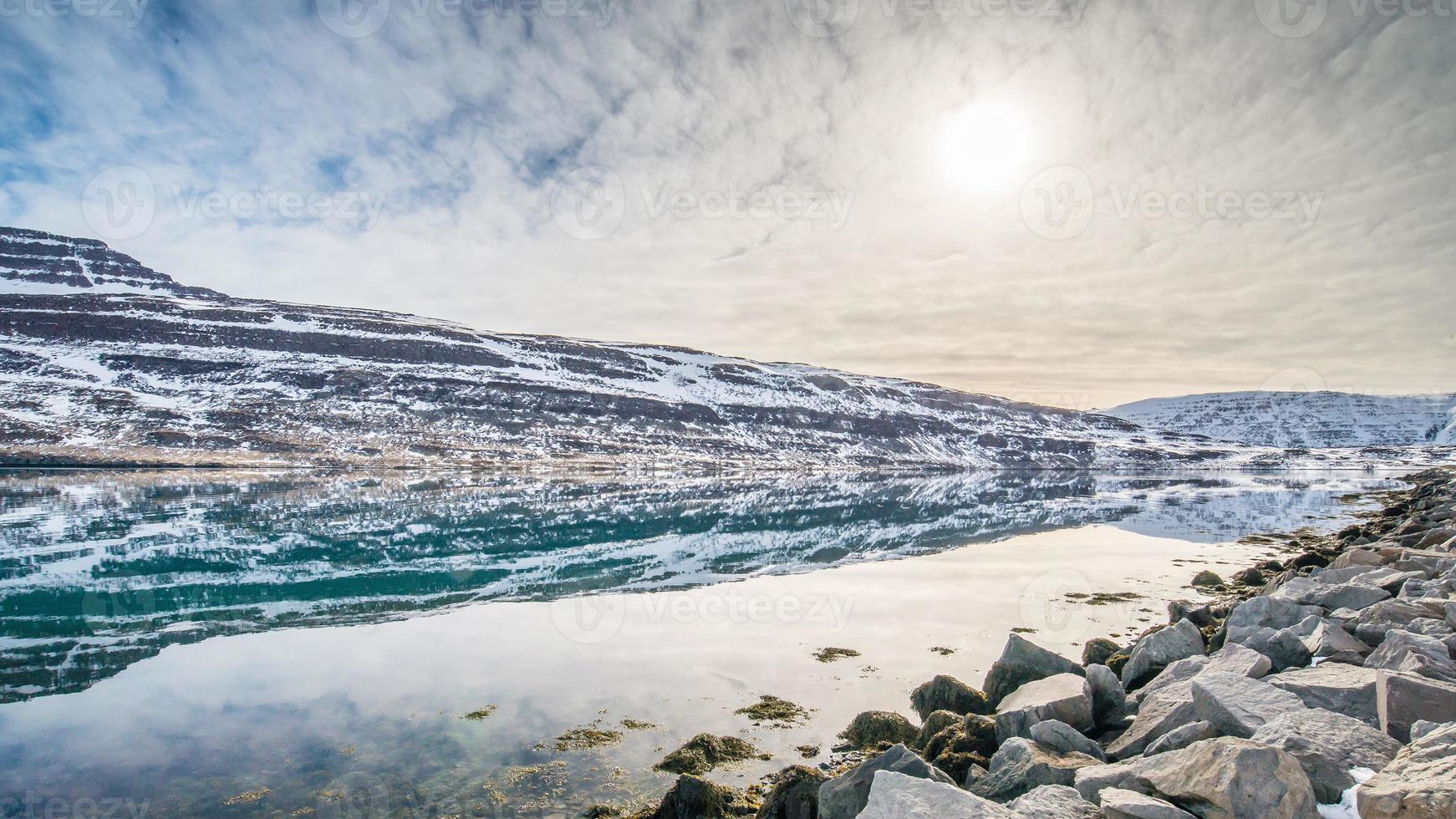 paisagem do inverno, islândia foto