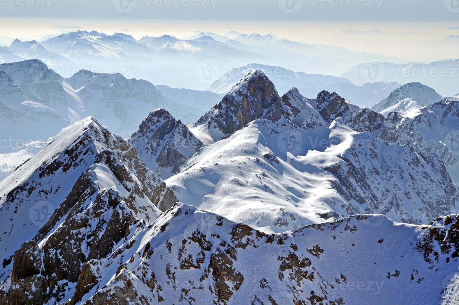 paisagem de inverno montanha foto
