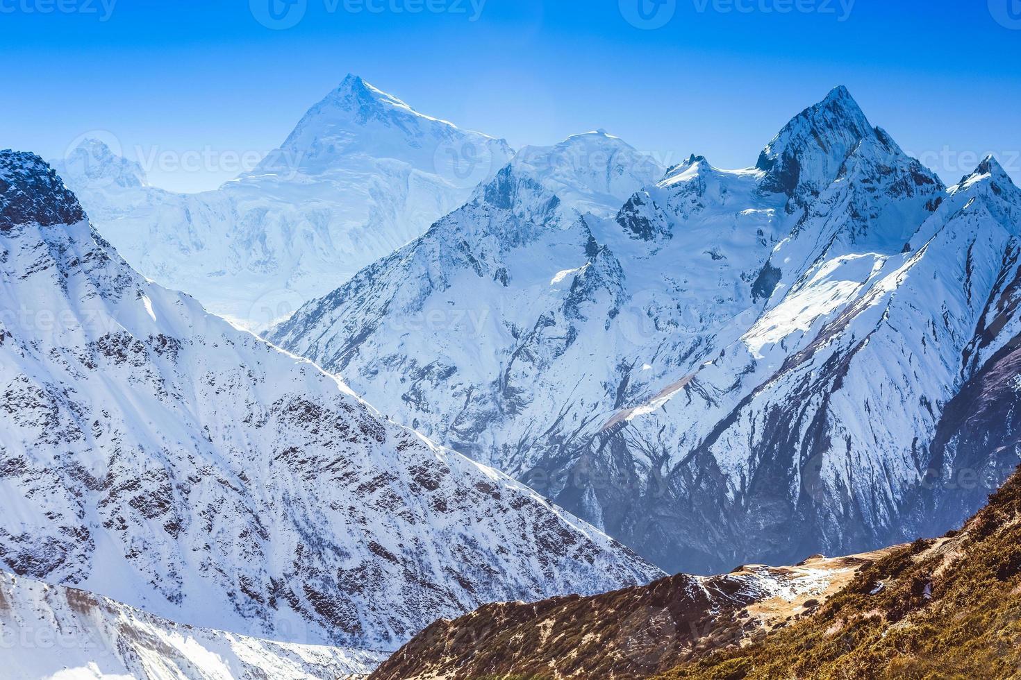 paisagem de montanha do Himalaia foto