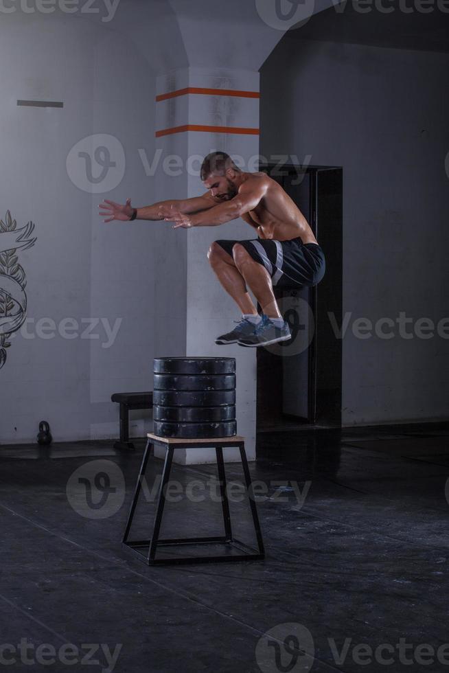 salto divertido foto