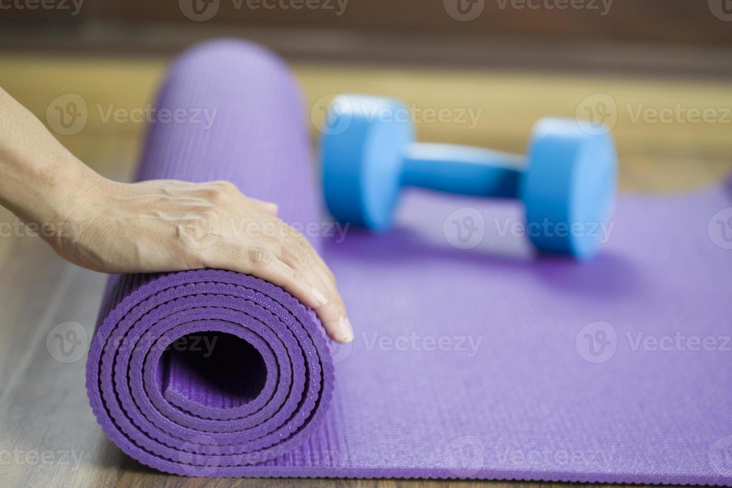 tapete de yoga foto