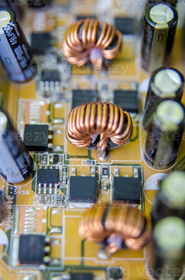 placa de circuito eletrônico. macro foto