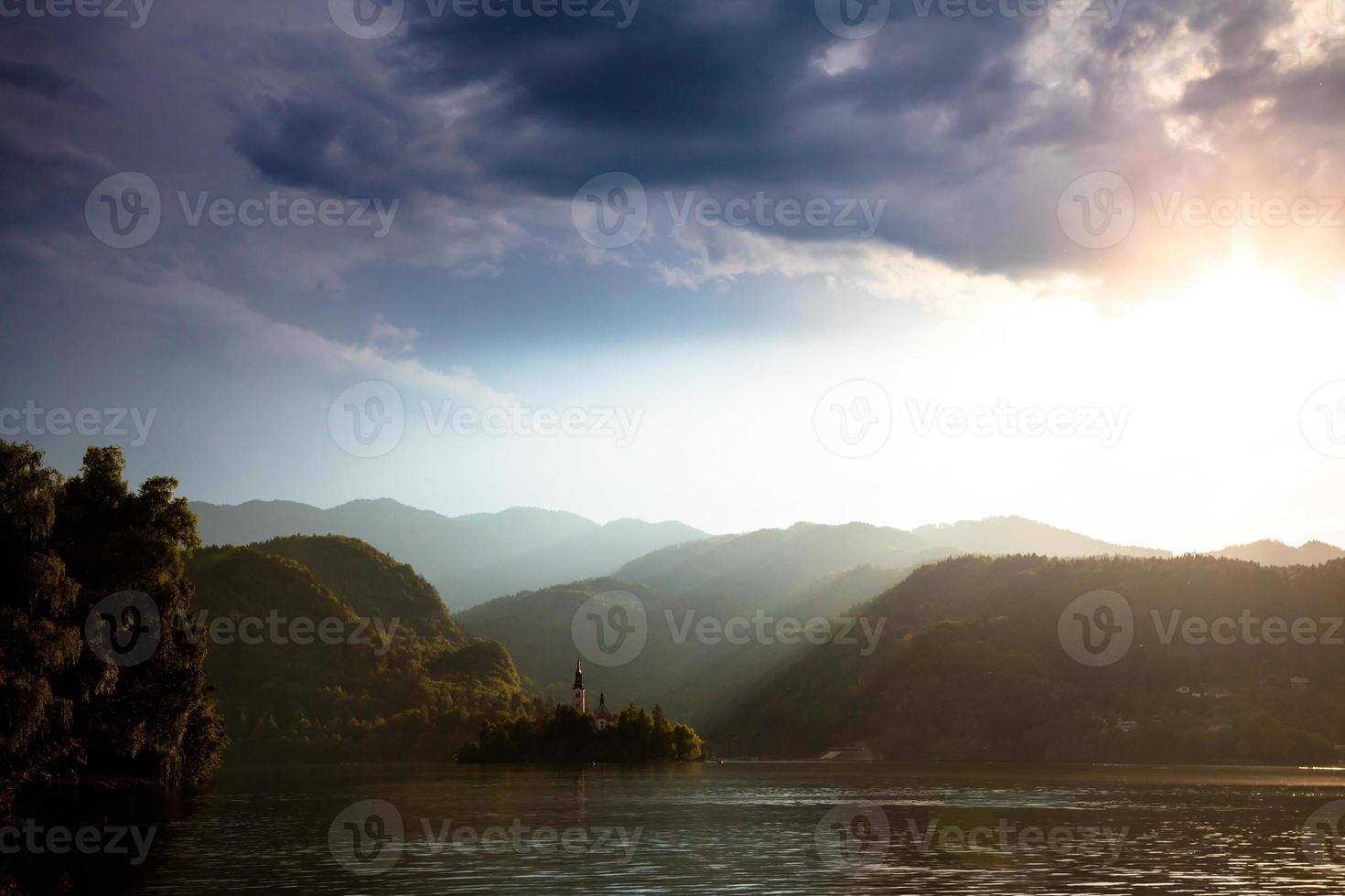 lago sangrado, eslovénia foto