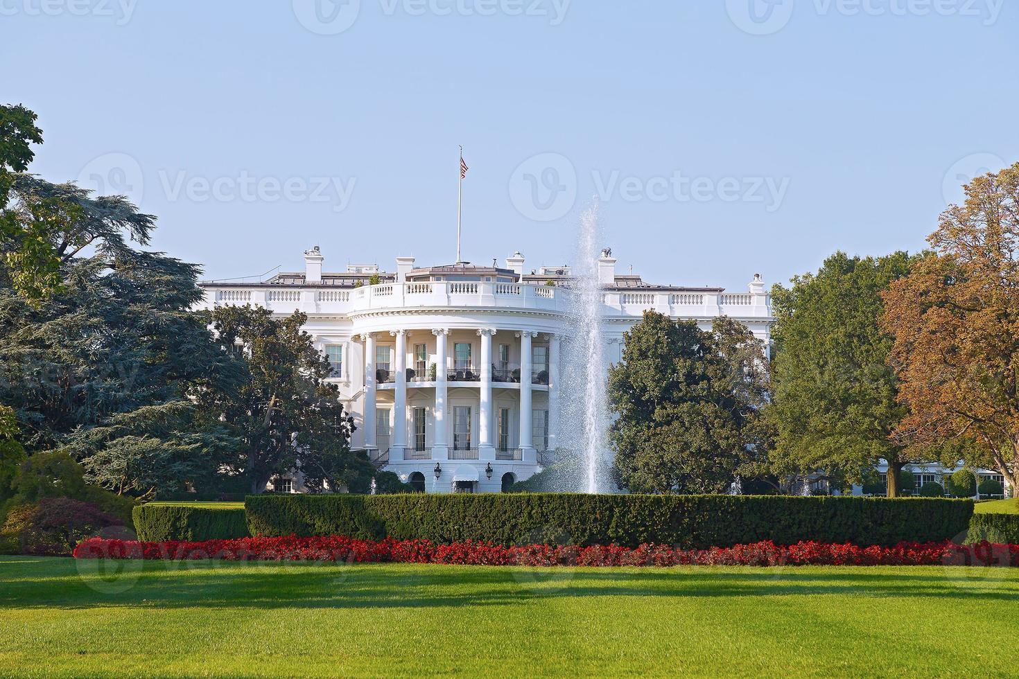 a casa branca em washington dc. foto