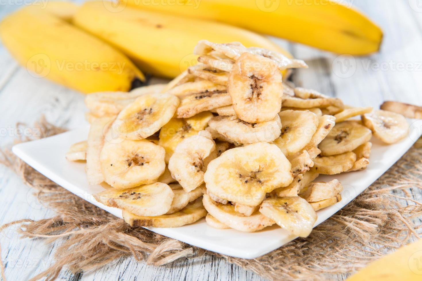comida saudável (banana chips) foto