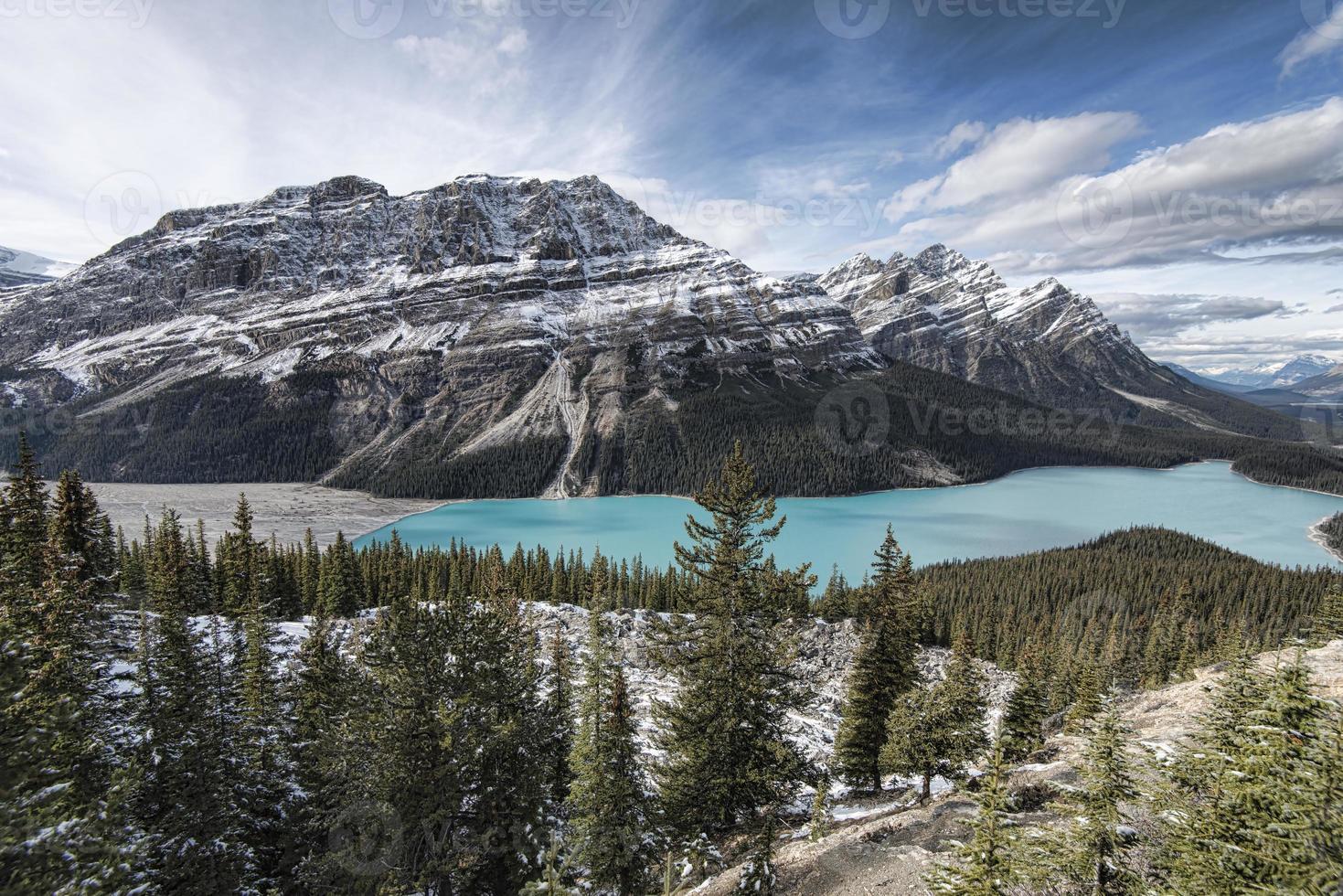 peyto lake panoramic foto