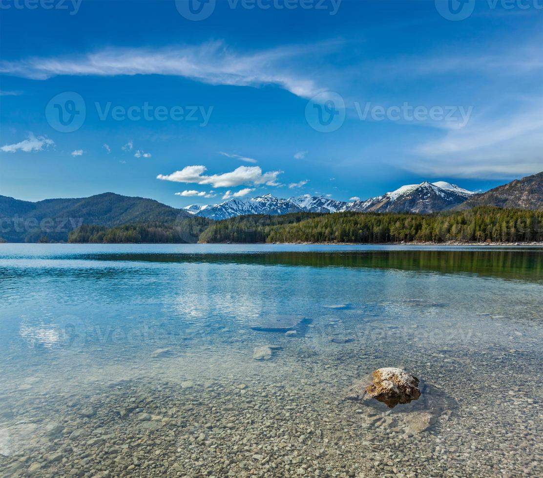 lago eibsee, alemanha foto
