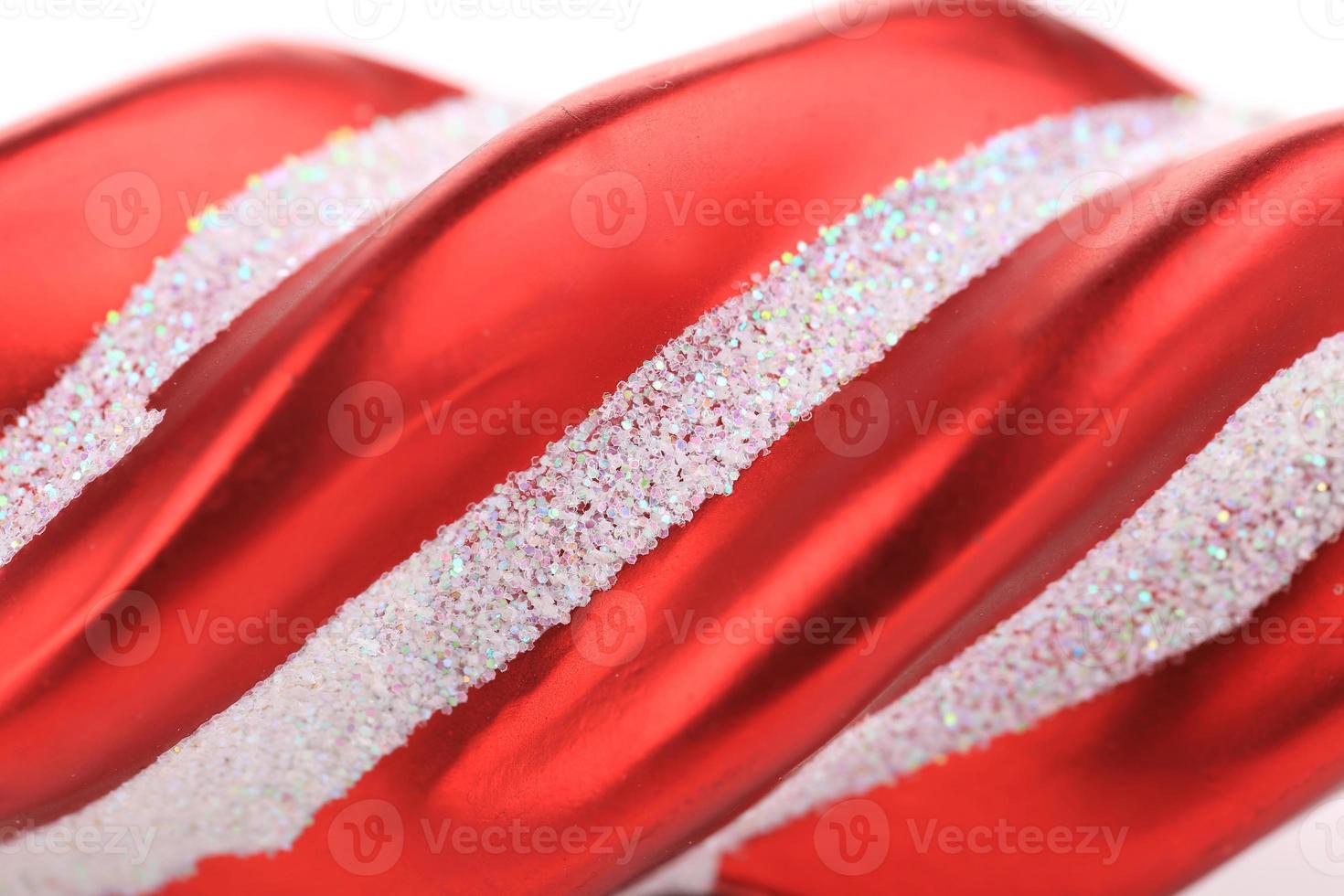 decoração da árvore de Natal vermelho. foto