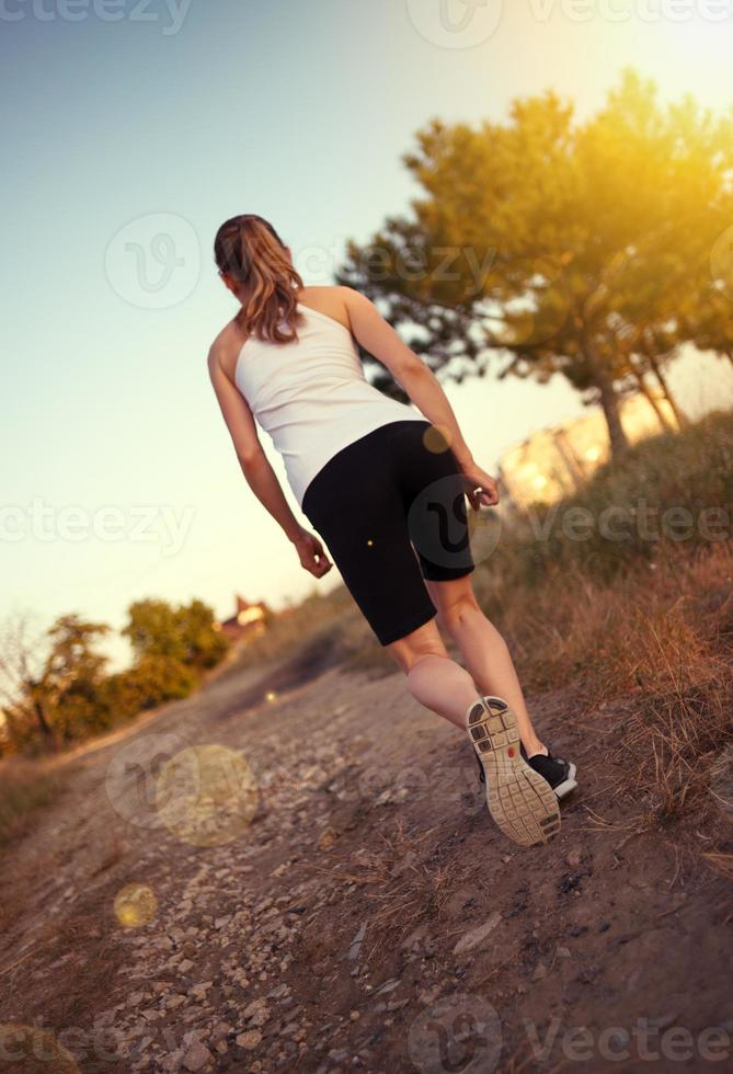 corredor feminino foto