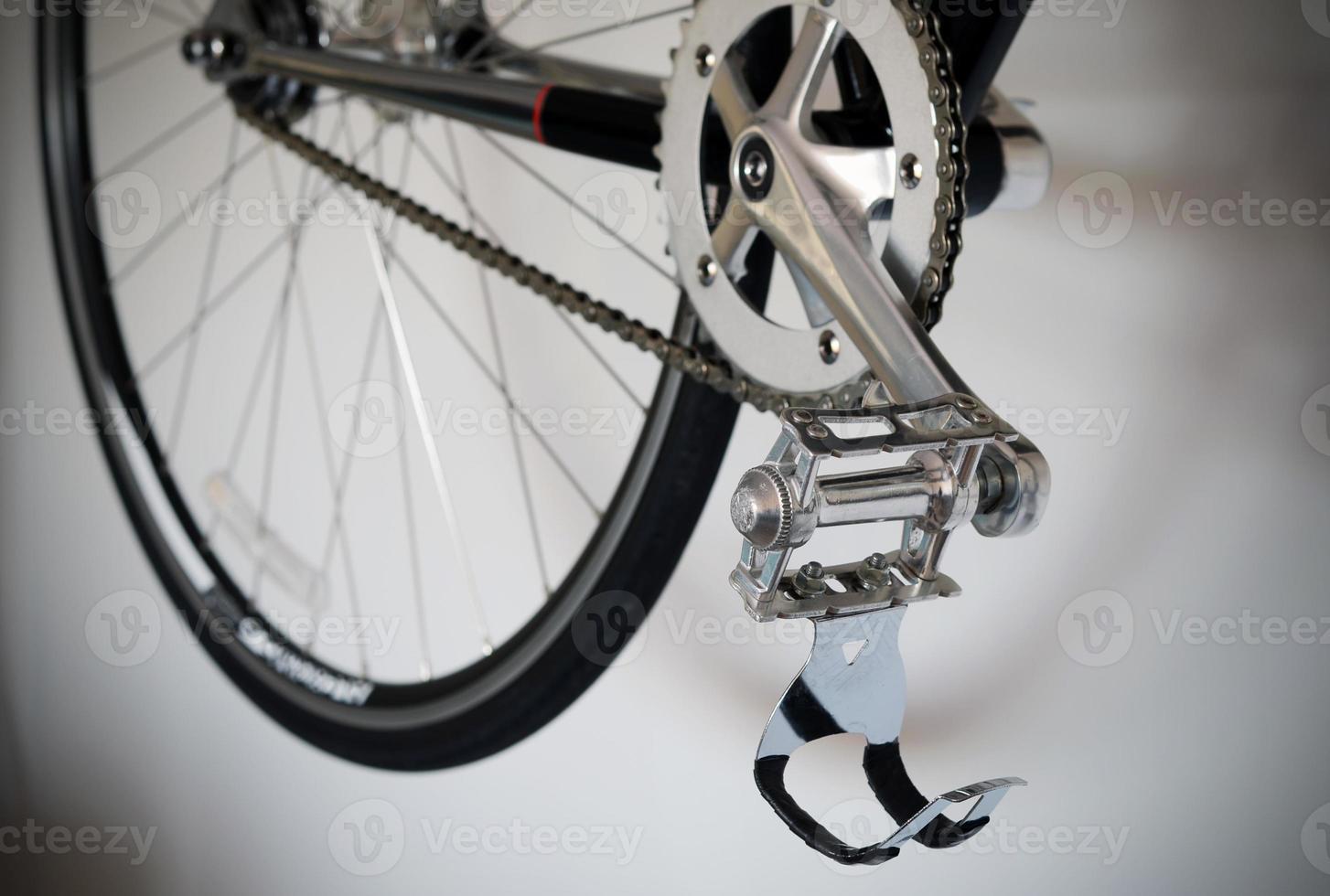 close-up do pedal da bicicleta foto