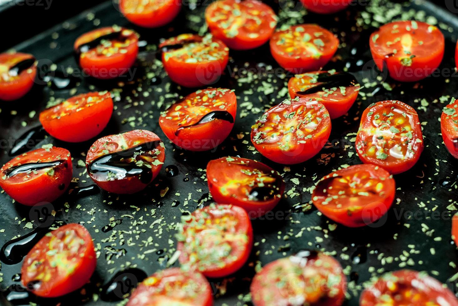 tomate cereja assado foto