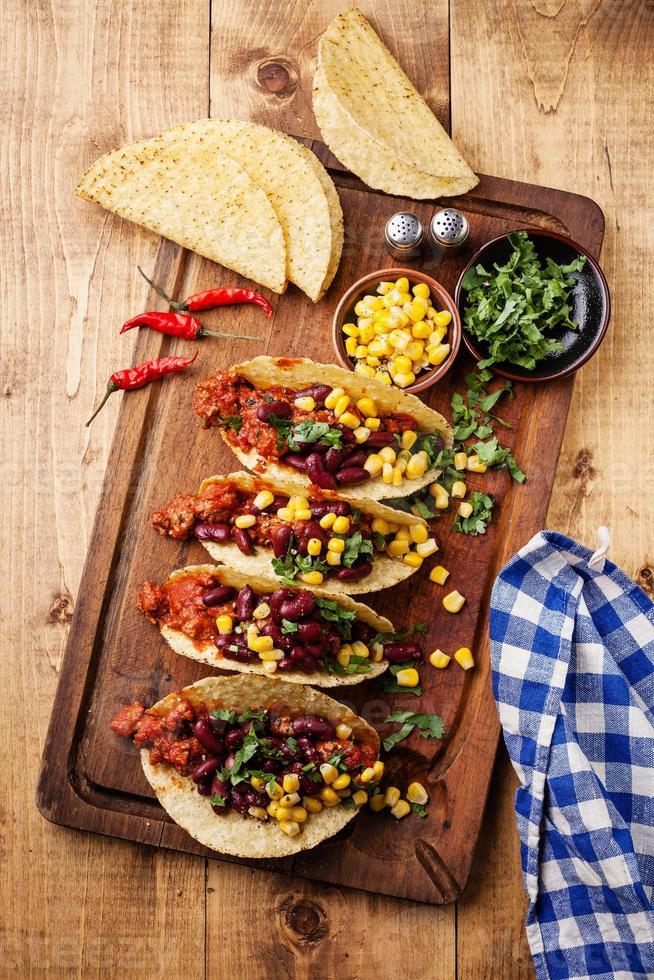 tacos com carne moída foto