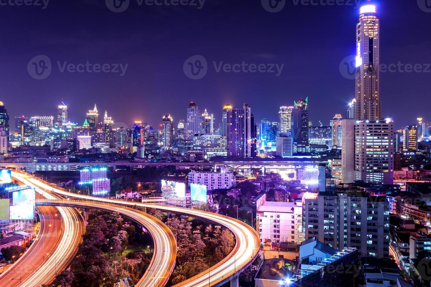 vista de alto ângulo de bangkok foto