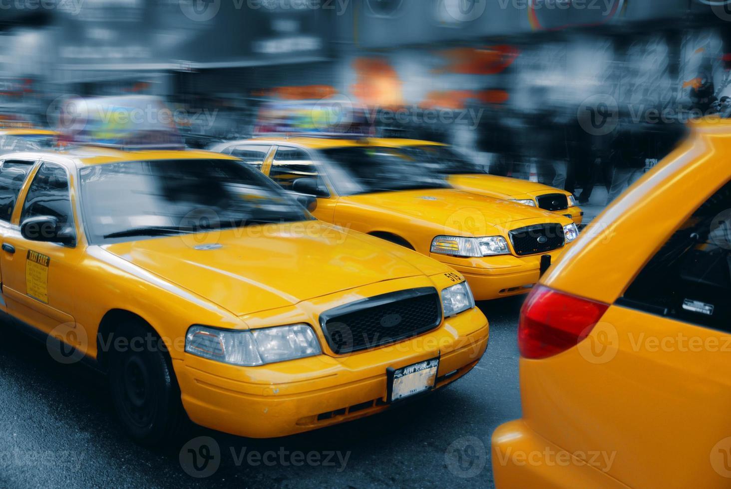 táxi de nova york na times square 2 foto