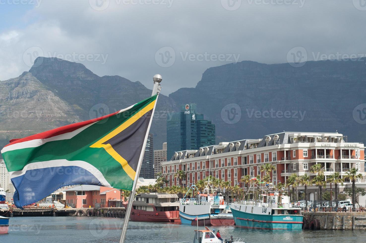 bandeira da áfrica do sul cidade do cabo foto