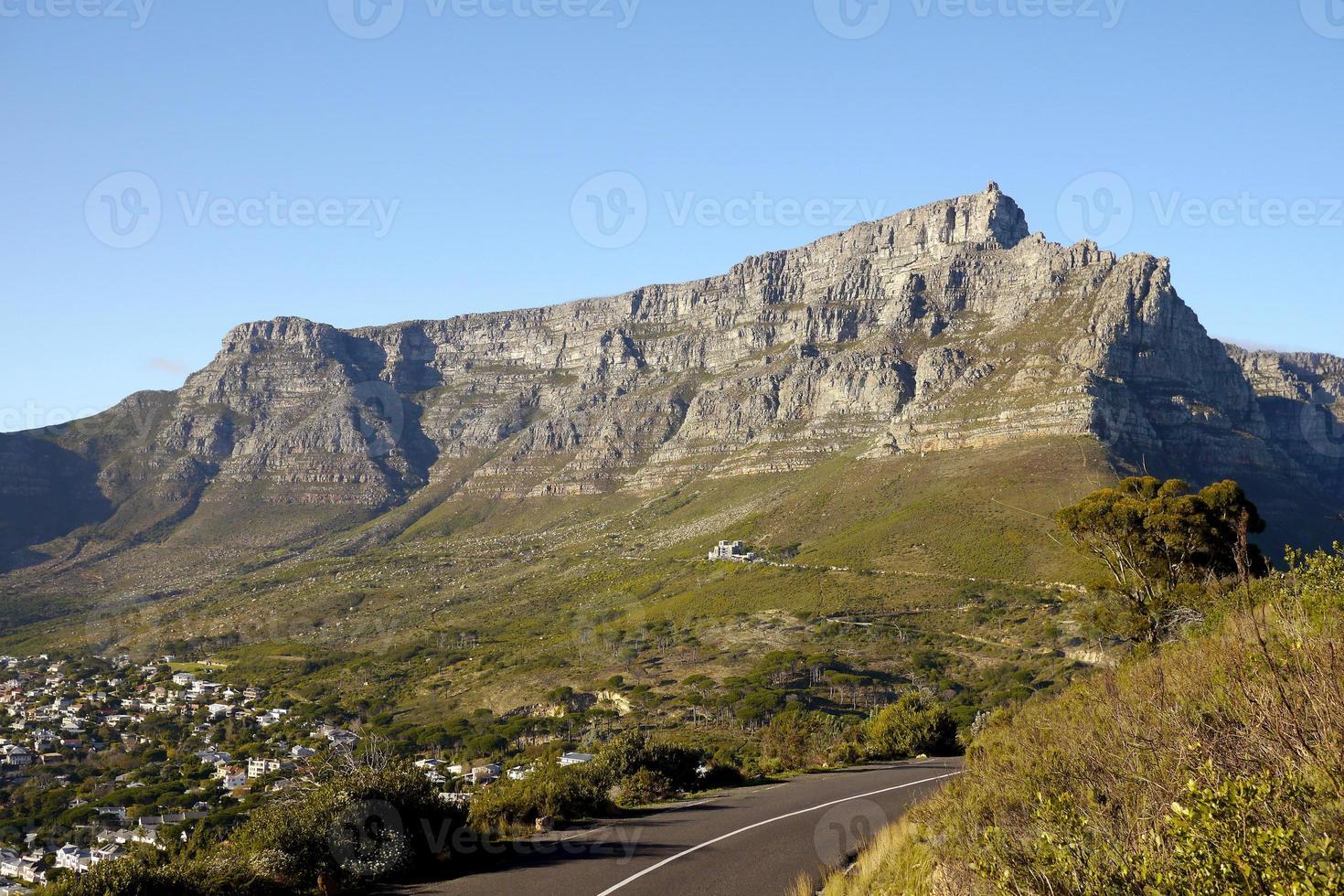 montanha da mesa, áfrica do sul foto