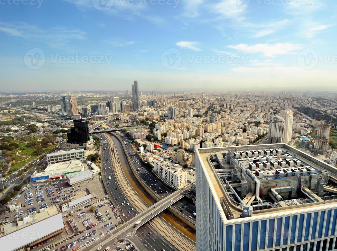 skyline de tel aviv foto