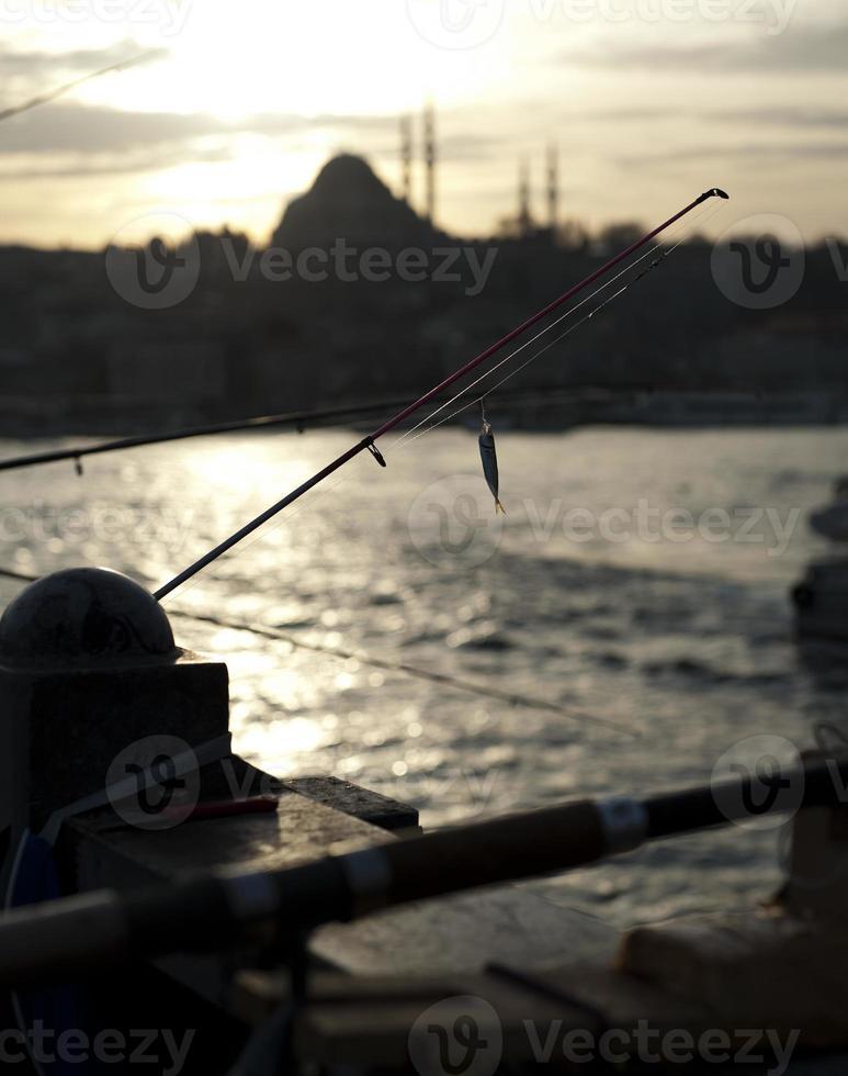 silhoutte de istambul foto