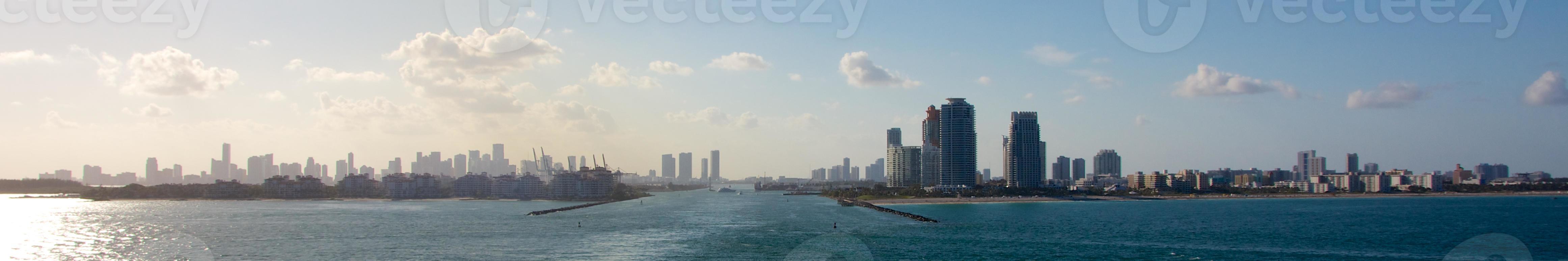 panorama do porto de miami foto