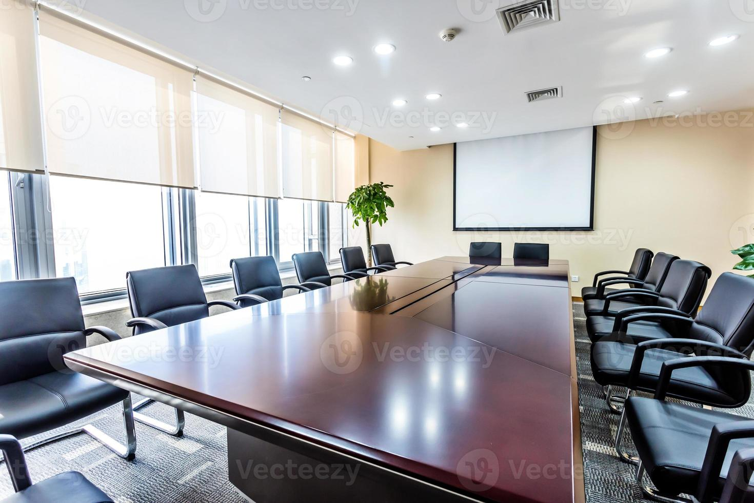 interior da sala de reunião foto
