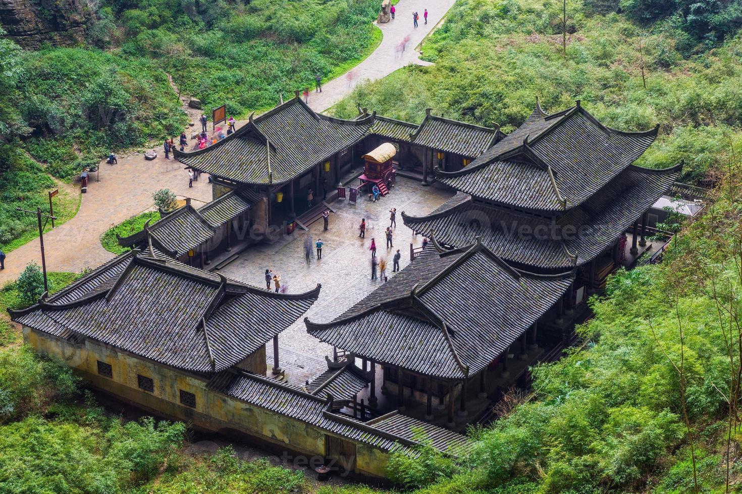 parque nacional wulong, chongqing, china foto