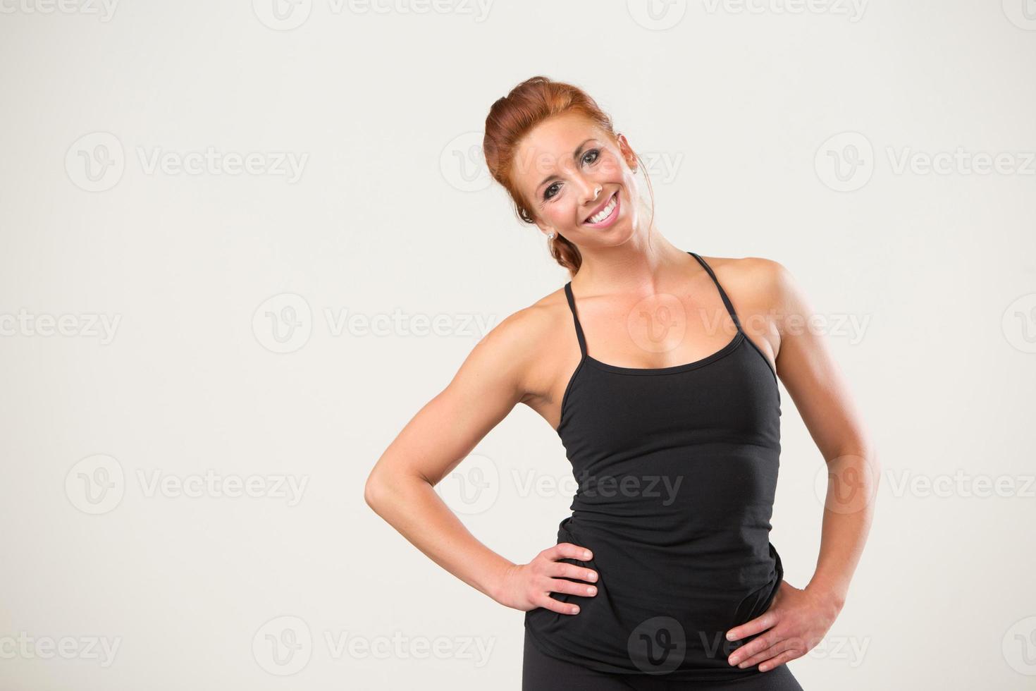 instrutor de fitness feminino foto