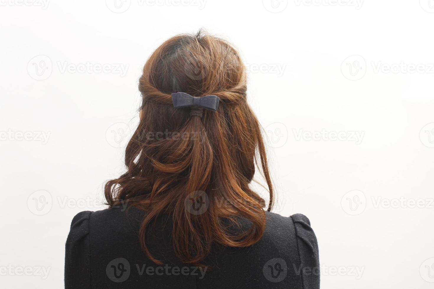 imagem de tecer cabelo feminino foto