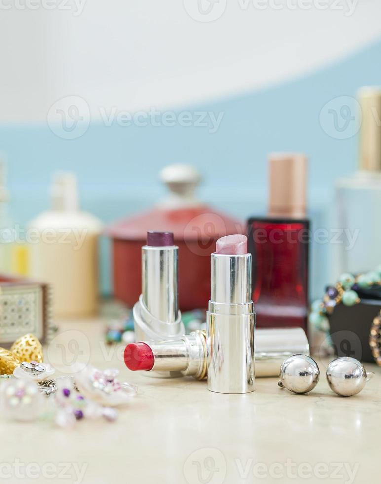 objetos maquiagem feminina foto