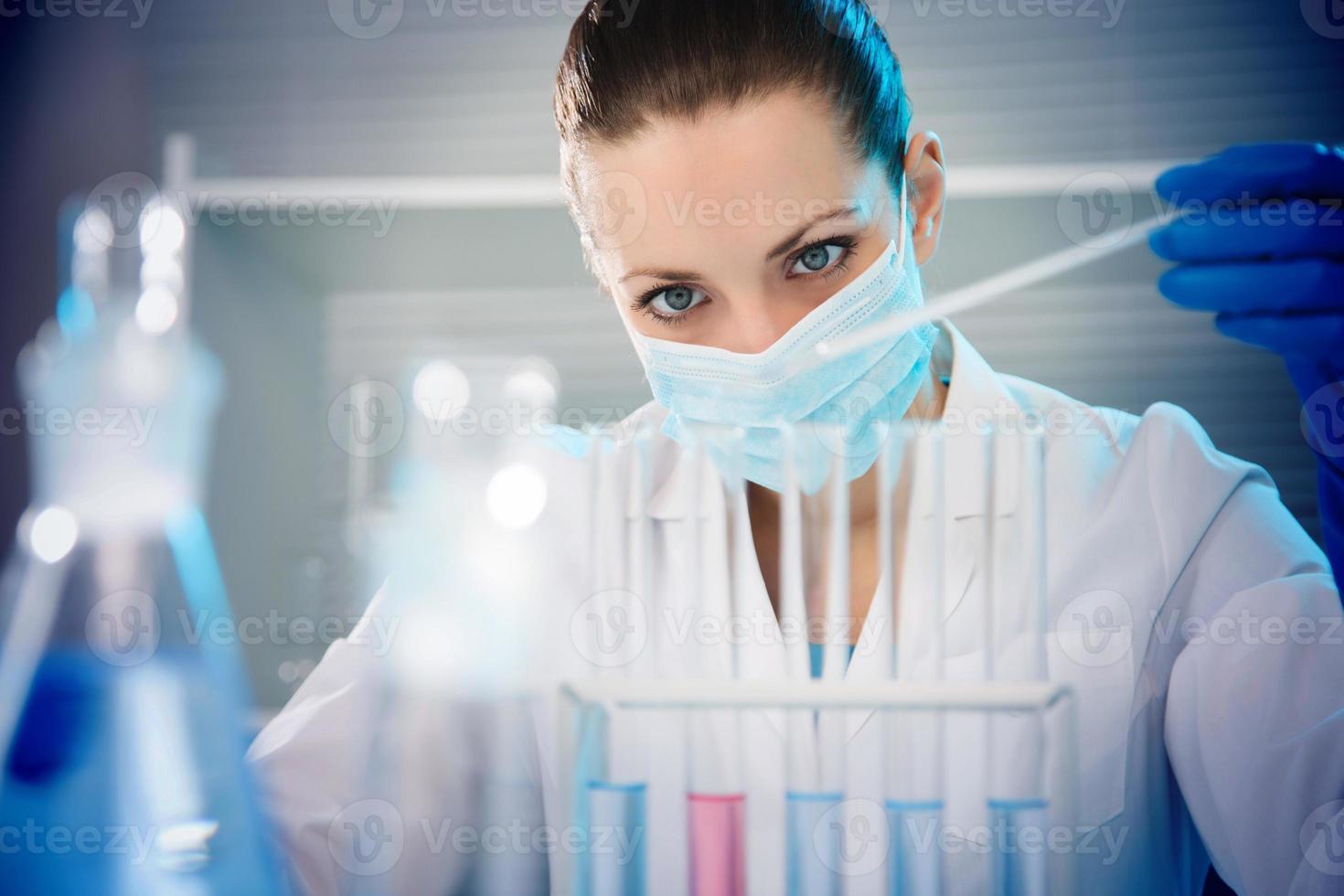 cientista trabalhando no laboratório foto