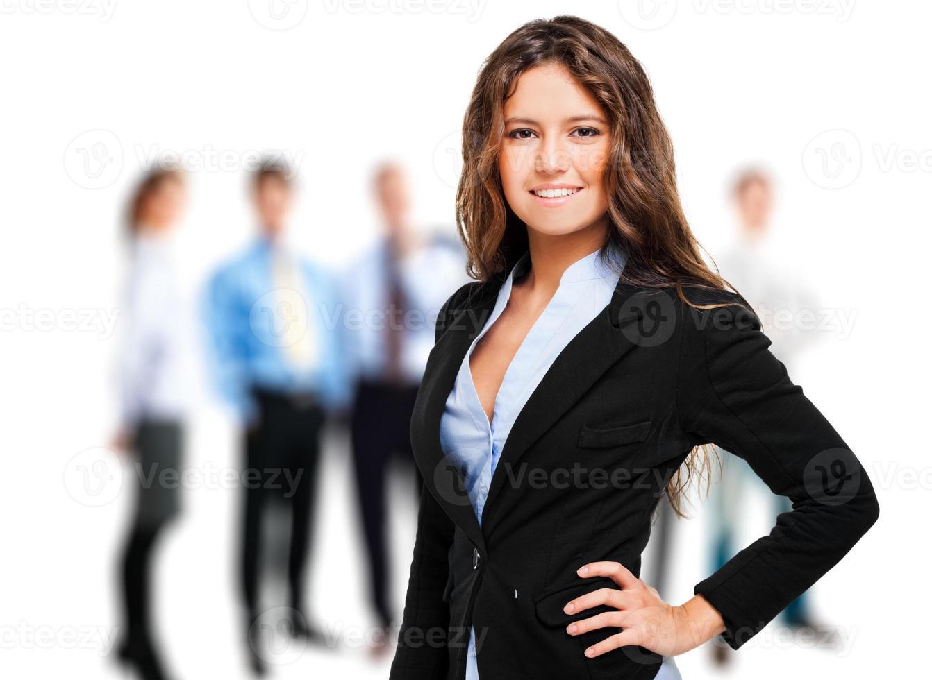 retrato de um gerente do sexo feminino foto