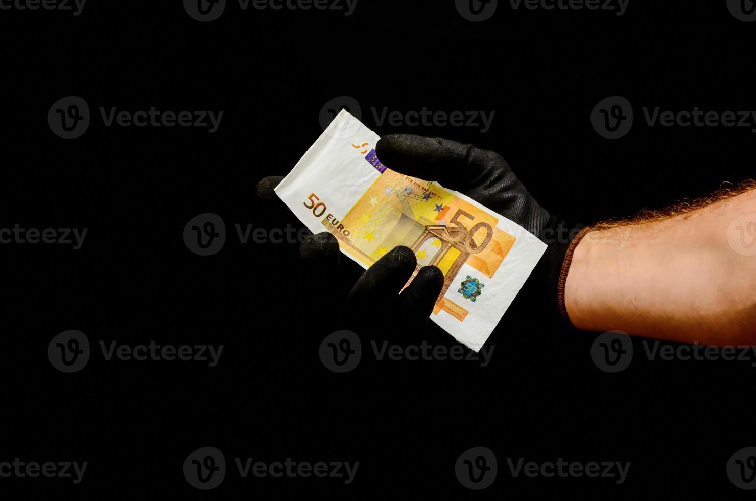 notas de dinheiro em euros europeus foto