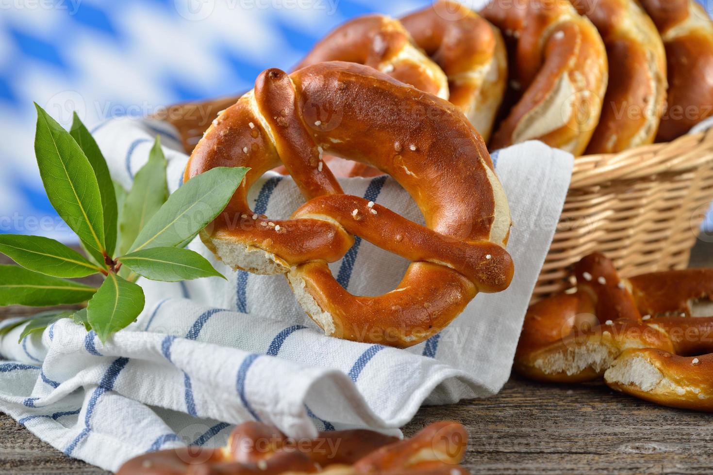 pretzels frescos foto