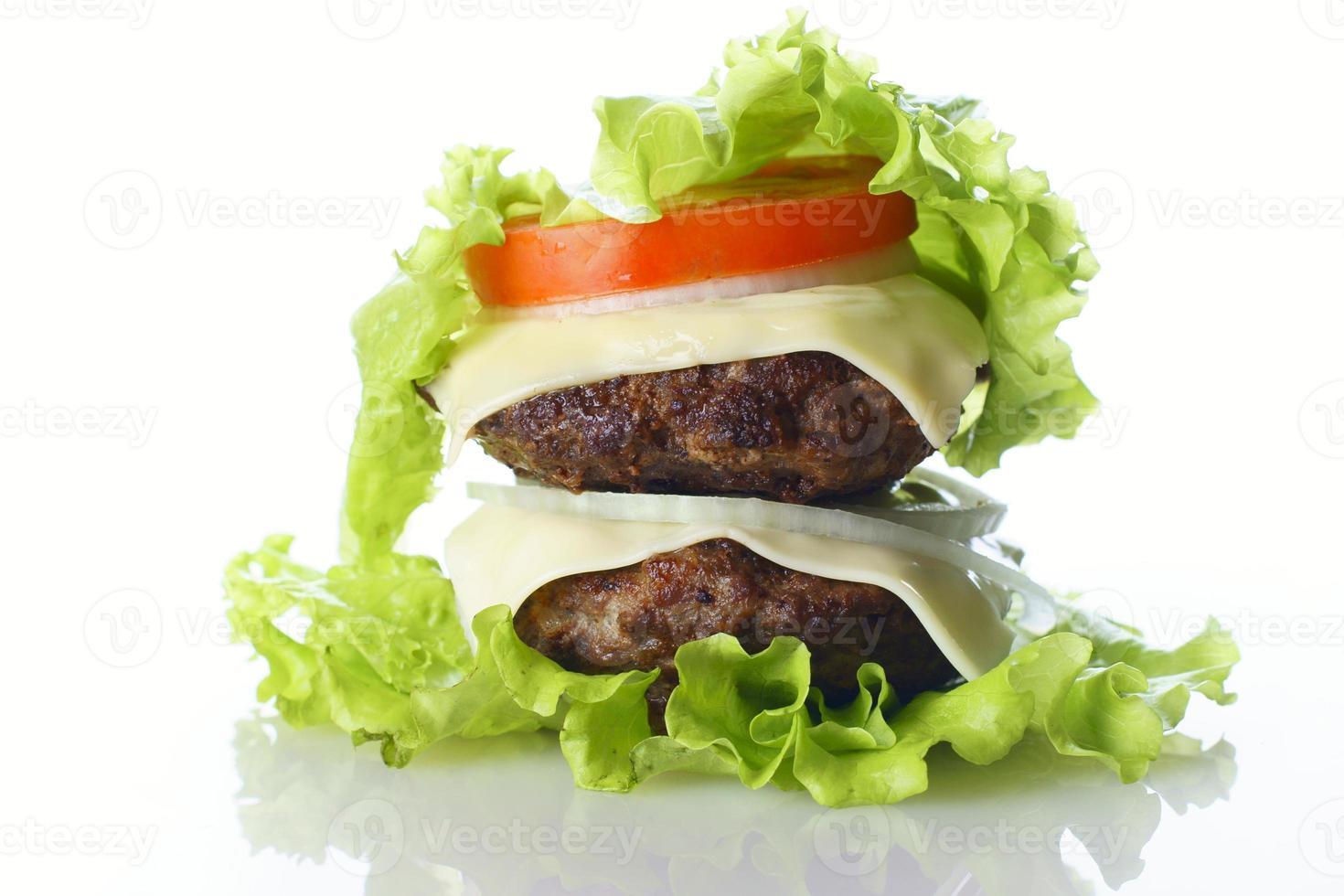 hambúrguer isolado foto