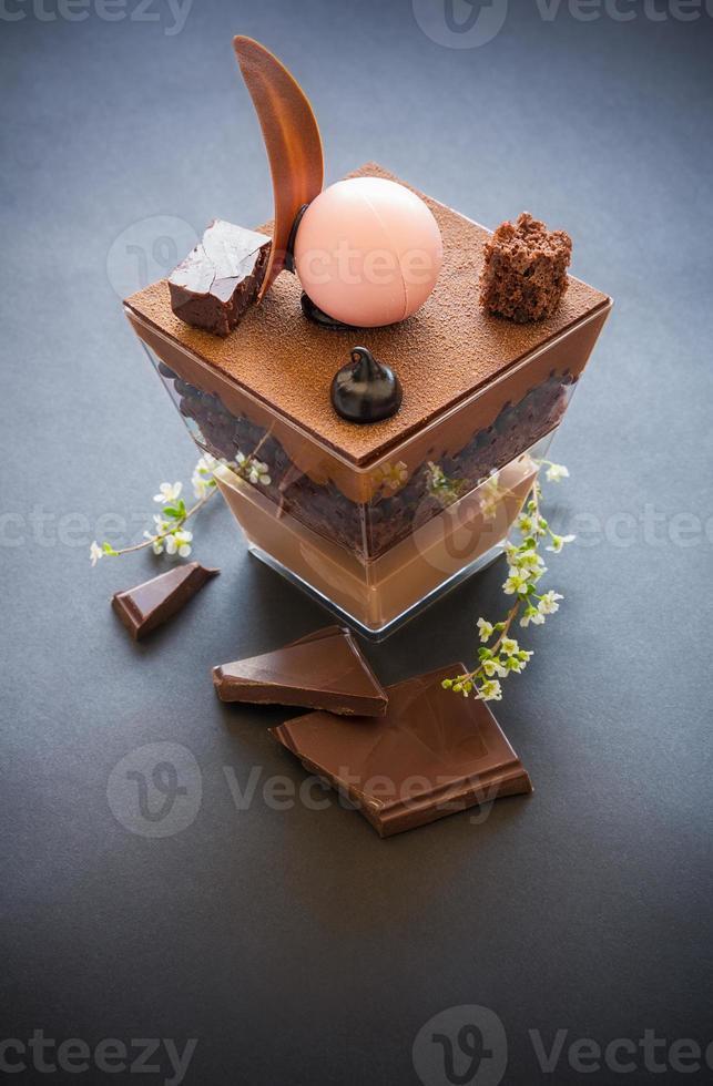 parfait de chocolate foto