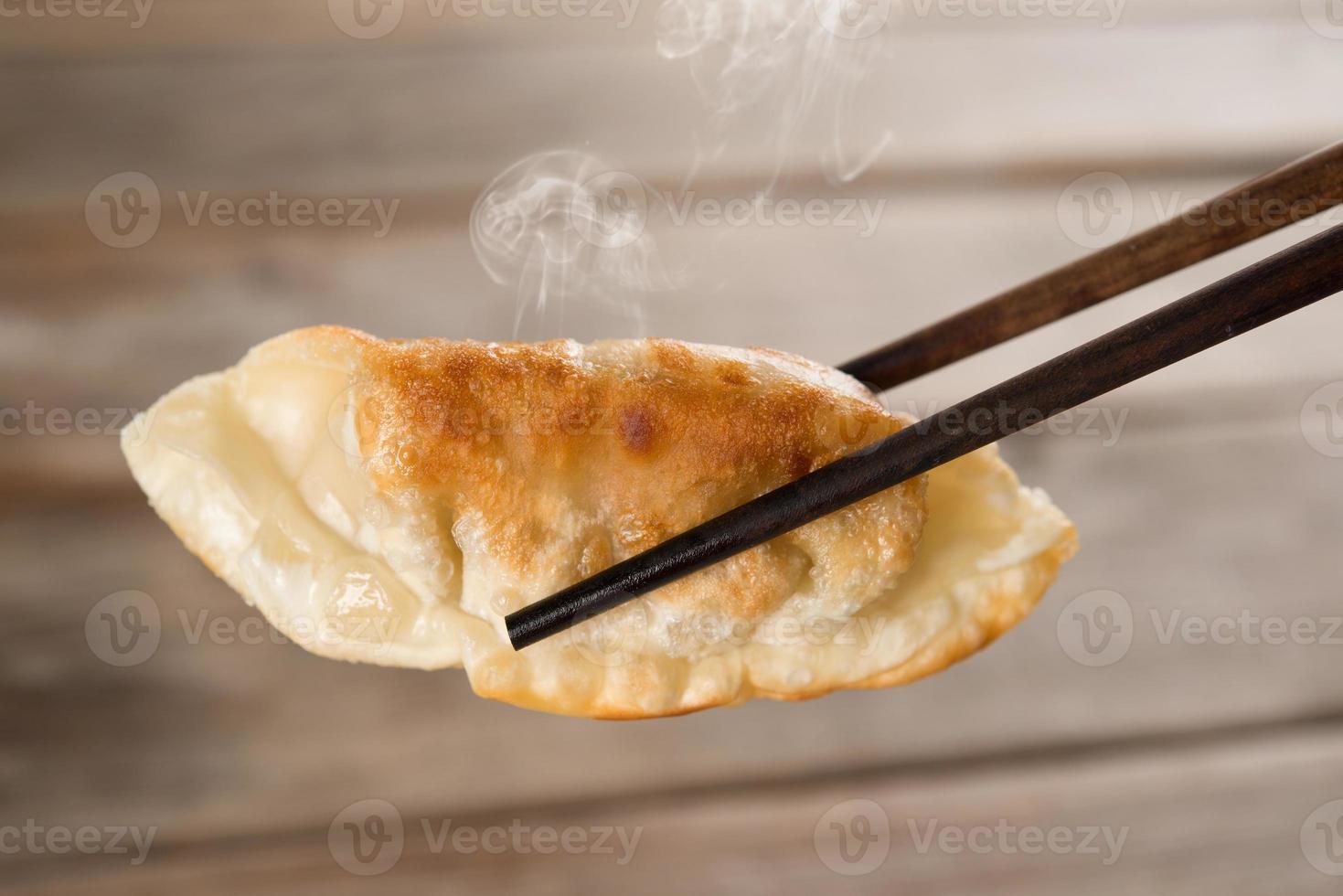 bolinhos fritos de panela de refeição chinesa foto