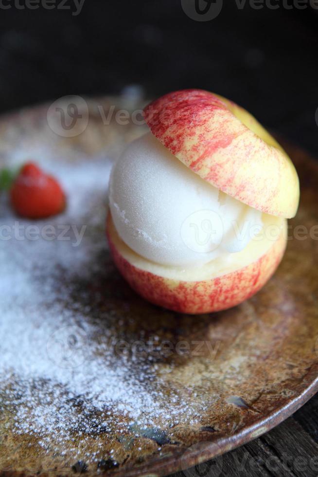 sorvete de maçã foto