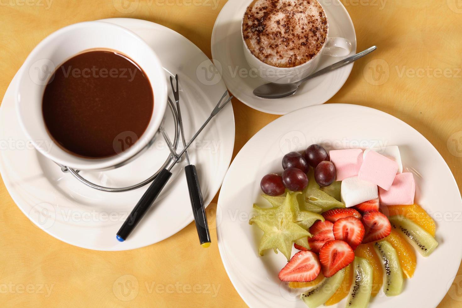 fondue de frutas foto