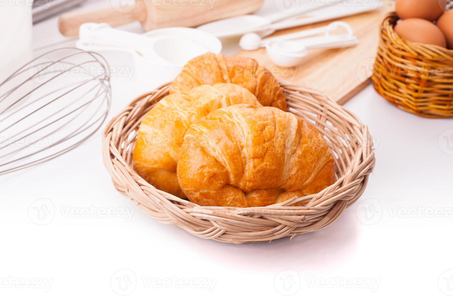croissants caseiros foto