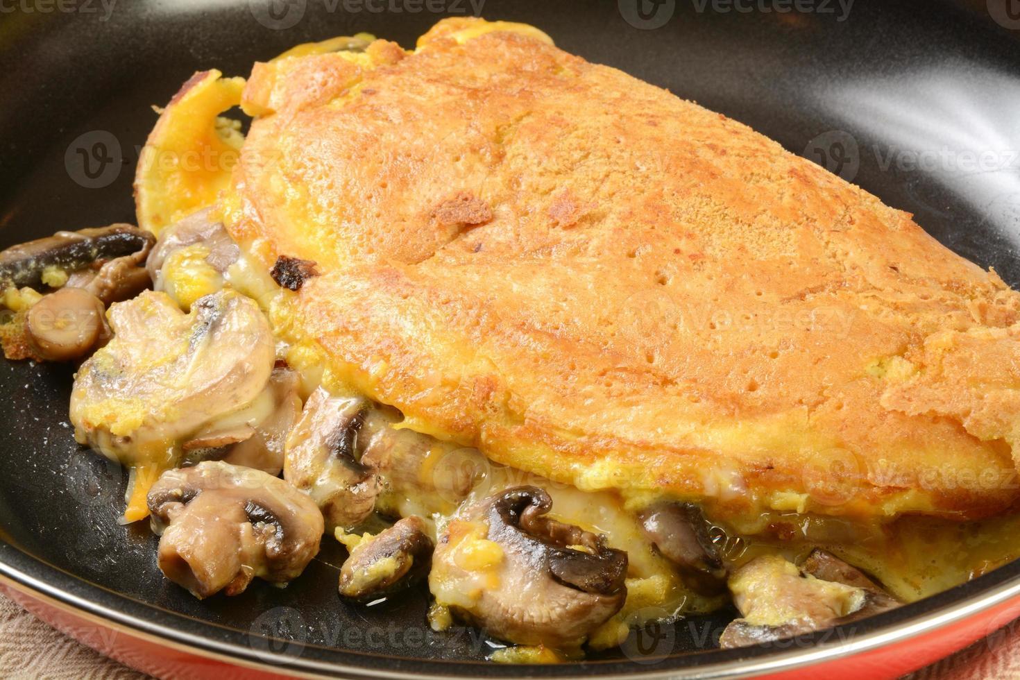 omelete de cogumelos foto