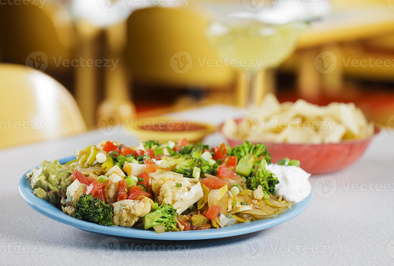 nachos vegetarianos foto