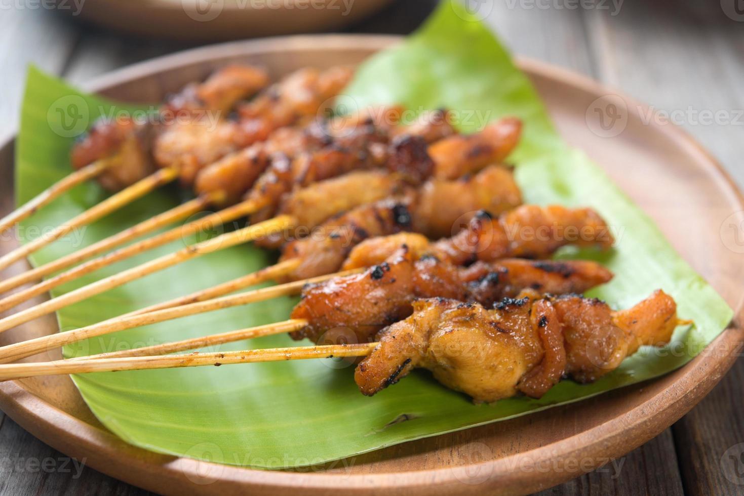espetadas de frango asiático foto