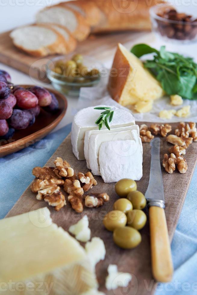seleção de queijo para festa foto