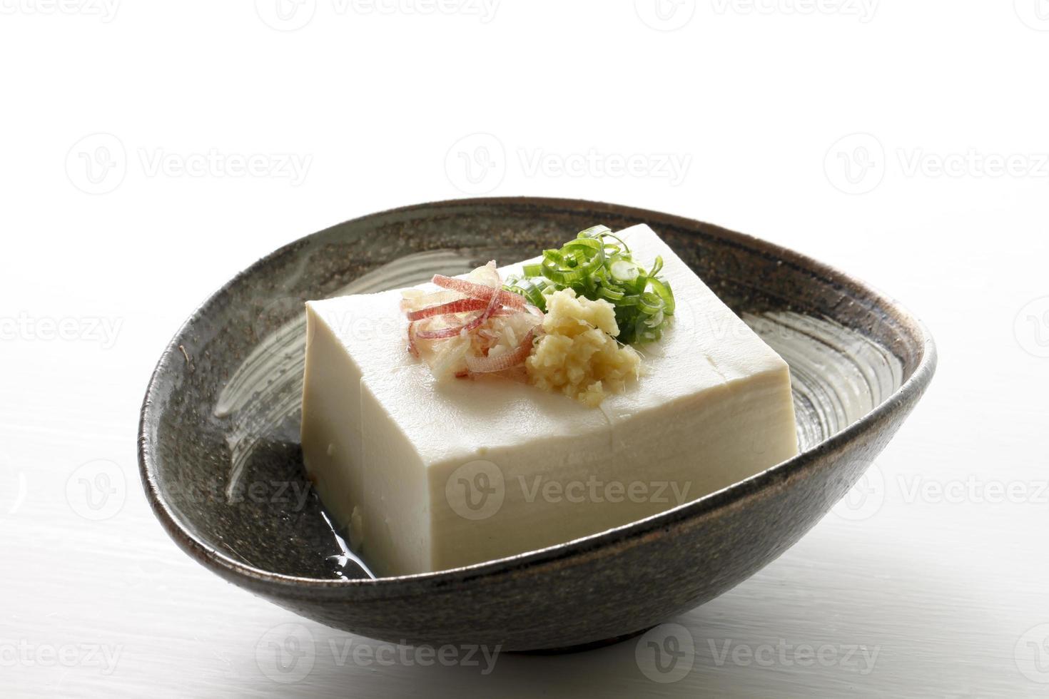 comida japonesa de tofu foto