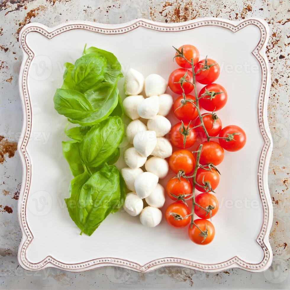 ingredientes para salada caprese foto